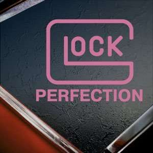 GLOCK PERFECTION Pink Decal GUN Car Truck Window Pink