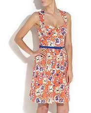 Orange/Yellow Pattern (Orange) Kelly Brook Orange Daisy Dress