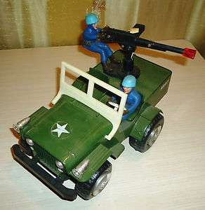Vintage 70s LYRA TOY, Military Army Jeep Car  Battery Operated