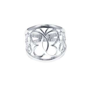 Sterling Silver Open Butterfly Ring, Size 8 Jewelry