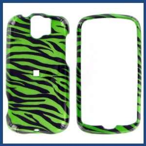 com HTC MyTouch Slide 2D Zebra on Green Protective Case Electronics