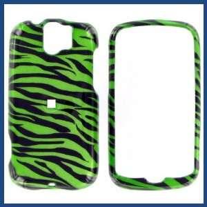 com HTC MyTouch Slide 2D Zebra on Green Protective Case Electronics