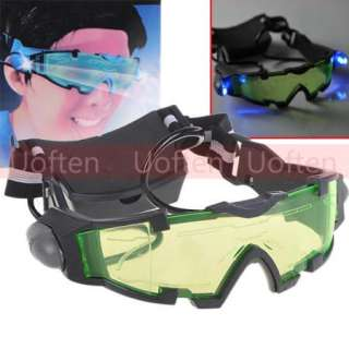 Cool Night Vision Tinted Lens Adjustable Elastic Band Goggles Glasses