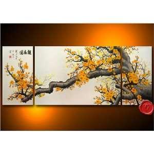 Modern Chinese Art Plum Blossom Flower Asian Oil Painting