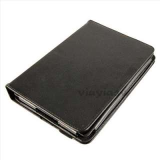 Black 360 Degree Rotary Leather Stand Case Cover for 7  Kindle