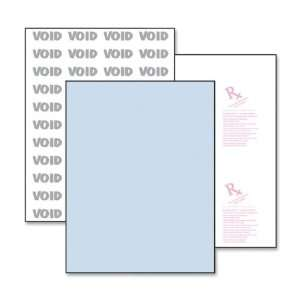 Advance Medical Security Paper,Letter   8.5 x 11   500 / Ream   Blue