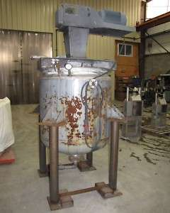 USED 200 GALLON STAINLESS STEEL JACKETED MIX TANK
