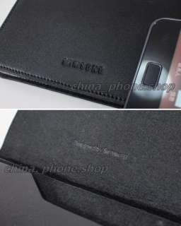 BLACK Leather Pouches case New in Box for Galaxy S II S2 i9100