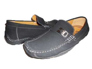 NEW MEN BLACK BROWN BEIGE DRIVING MOCCASINS SHOES BUCKLE PU LEATHER
