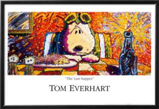 Peanuts: Snoopy, Last Supper Prints by Tom Everhart at AllPosters