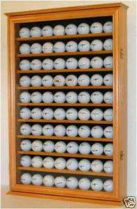80 Golf Ball Display Case Cabinet Rack with door
