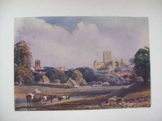 Vintage Peter De Wint St Albans Print Masters of Water Colour Painting