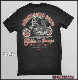 Bobber Motorcycle Route66 Harley Biker LA   T shirt