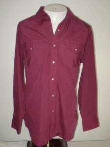 vtg ELY Cattleman Pearl Snap Western shirt 17 34 XL