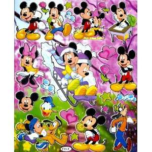 Mickey & Minnie Mouse Winter Snow Sled Disney Sticker