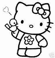 25 * Hello Kitty * Malvorlagen  Set 1
