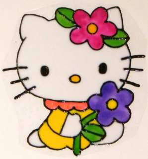 WINDOW COLOR Fensterbild Bild Hello Kitty m.BlumeHaft
