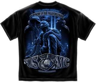 USMC 9 11 T Shirt Marine Corps in memory 911 army military ny new york