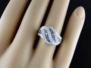 10K LADIES WOMENS YELLOW GOLD CHOCOLATE/WHITE DIAMOND ENGAGEMENT