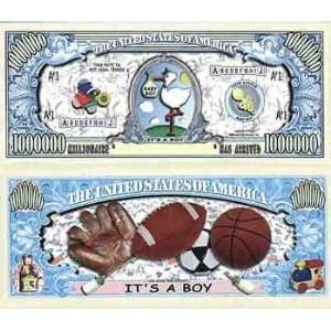 ItS A Boy   Million Dollar Bills Case Pack 100: Toys & Games