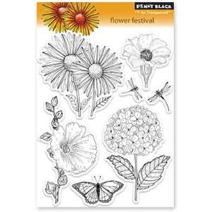 Penny Black Clear Stamps 5X7.5 Sheet Flower Festival