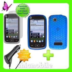 Charger + Screen +RB Case Cover NET 10 MOTOROLA EX124G