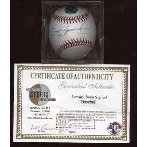 Autographed Sammy Sosa Baseball   Single ASI   Autographed