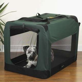GUARDIAN GEAR SOFT COLLAPSIBLE DOG CRATE GREEN LARGE