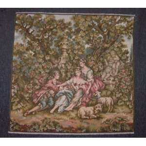 ITALIAN TAPESTRY ROMANTIC PASTORALE SCENE 41X40 Home & Kitchen