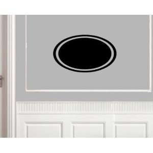 Oval with Outline Shapes Vinyl Wall Decal Sticker Mural Quotes Words