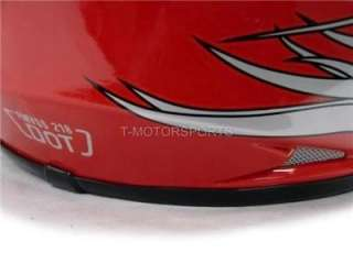 YOUTH RED FLAME MOTOCROSS HELMET ATV +GOGGLES/GLOVES ~L