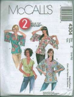 OOP McCalls Sewing Pattern Blouse Top Tunic Shirt Misses Plus Size