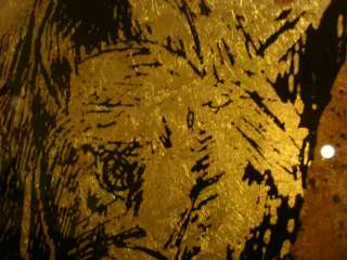 GREYHOUND ECHRUSEOS GLASS GOLD LEAF FRAMED JACK WHITE