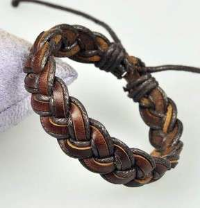 Vintage Hemp Leather Braided Bracelet Wristband Cuff DB