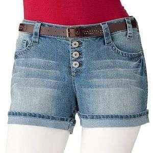 Flower Denim Collection Abbey Button Fly Denim Shorty Shorts