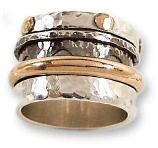 925 SILVER 9K rose GOLD spinning mens wedding RING R049 size 8 9 10 11