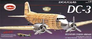 DC 3 Guillows Balsa Wood Model Airplane Kit #804