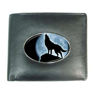 HOWLING WOLF Mens Leather Wallet Credit Card Gift