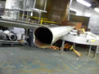 STAINLESS STEEL STRAIGHT PIPE 98 LONG 1 3/4 ID