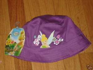Disney Tinkerbell Fairy Sun Bucket Hat Girl 2T 3T 4T 5T