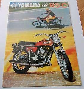 MINT 1972 YAMAHA R5 C 350 STREET MOTORCYCLE BROCHURE