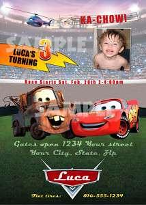 You Print Disney Cars Birthday Invitations
