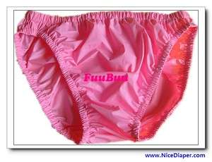 2x2205ADULT BABY DIAPER INCONTINENCE PLASTIC PANTS Pink