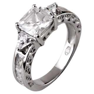 Carat Princess Cut CZ Cubic Zirconia Sterling Silver Womens Wedding