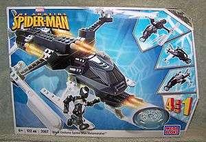 MEGA BLOKS 2008 MARVEL BLACK COSTUME SPIDER MAN METAMORPHER SET #2067