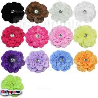 Large Peony Flower Clip for Baby Girl Crochet Headband