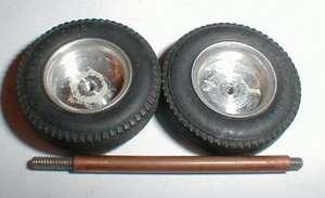 1960s straight tread tires & Smooth Wheels Dynamic 1/24 1/6 axle