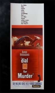 DIAL M FOR MURDER * MOVIE POSTER HITCHCOCK GRACE KELLY