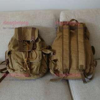 Set of 2 Retro Canvas Rucksack Backpack Bag Travel Gift