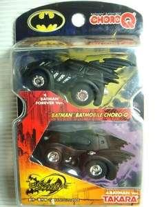 JAPAN TOMY CHORO Q BATMAN BATMOBILE FOREVER VER CAR SET